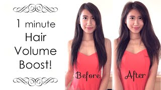 Instant Hair Volume Trick without hairspray or teasing!
