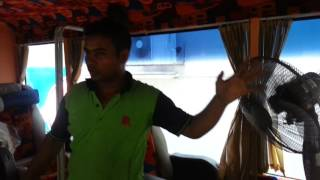Bangladeshi VIP bus polishing