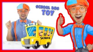 School Bus Toy with Blippi | Wheels On The Bus Song