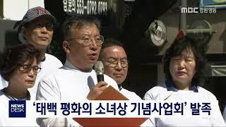'태백 평화의 소녀상 기념사업회' 발족
