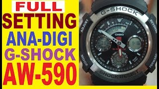 Setting Casio G-Shock AW-590 manual for use
