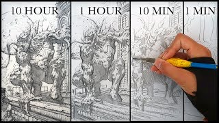 DRAWING VENOM in 10 HOURS, 1 HOUR, 10 MINUTES & 1 MINUTE!
