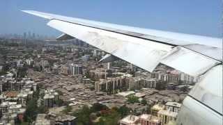 British Airways Boeing 777-200(ER) Landing at Mumbai Airport - Condensation and Fast Brakes