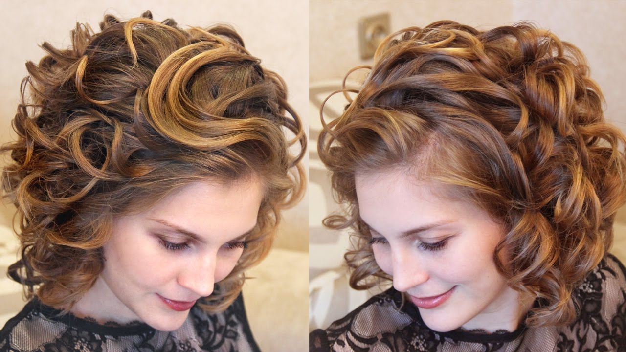 Фото красивых причесок на волос средней длины