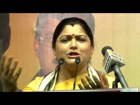 If  I'm Glamour Actress Then Who Is Jayalalithaa? - Kushboo & E. V. K. S Teasing Jayalalithaa video