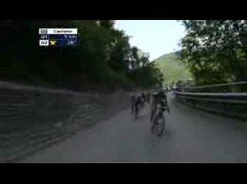 Val Frank Schleck Ronde van Zwitserland 2008