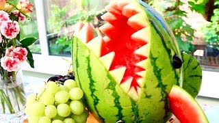 Watermelon Shark | Creative Food Art Ideas | Fruit & Vegetable Carving | Fun Food For Kids