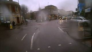 Red Light jumping Cyclist, Gloucester Road, Bristol, 05 11 2010