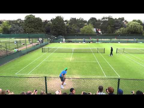 20110624溫布頓盧彥勳(yen-hsun Lu)和Rafael Nadal練球(八)