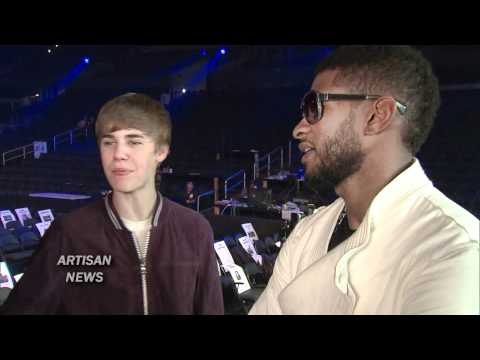 JUSTIN BIEBER & USHER PREVIEW GRAMMY PERFORMANCE