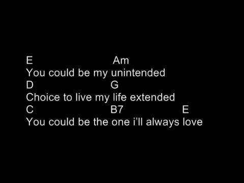 Muse - Unintended (Chord and Lyrics)