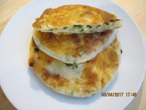 Турецкий бёрек с сыром и зеленым луком