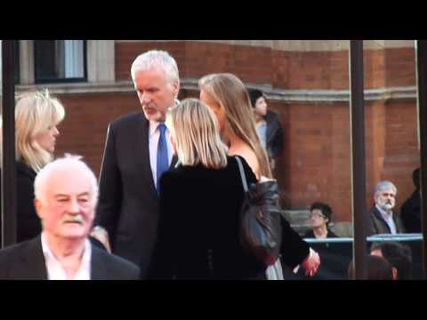 James Cameron & Bernard Hill at Titanic 3D premiere 27th March 2012 HD