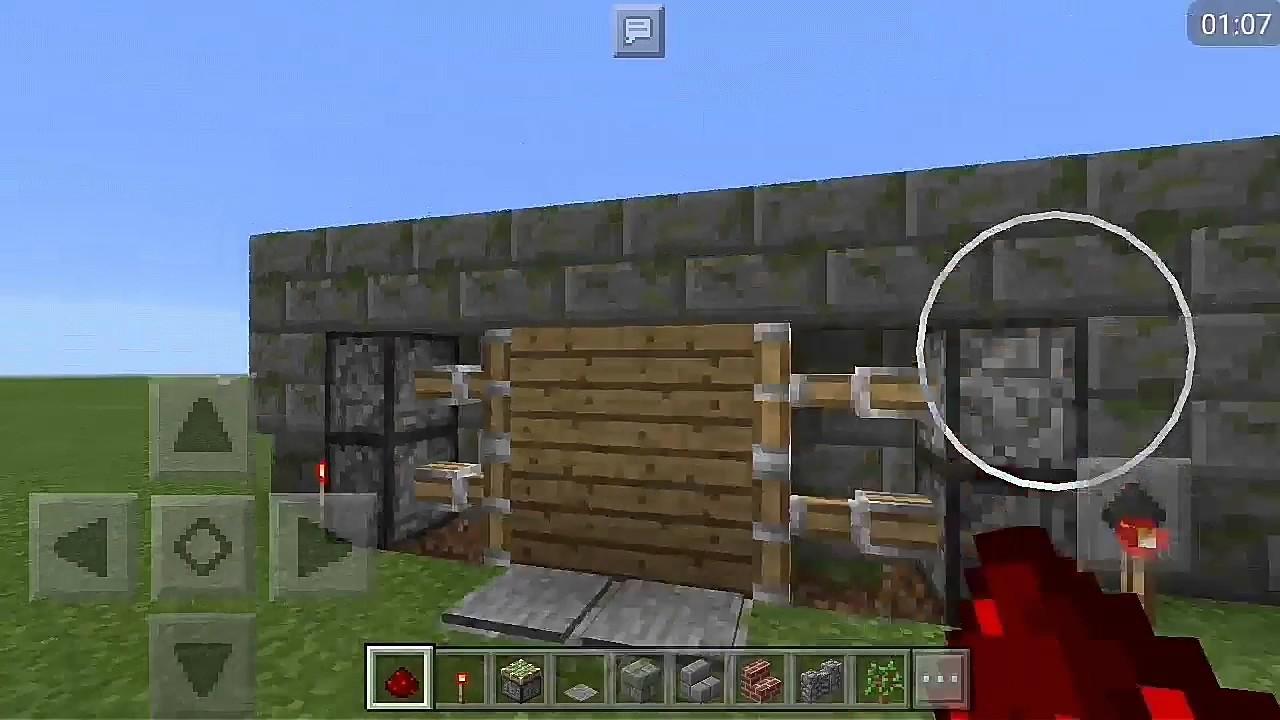 Как в майнкрафте сделать механические двери