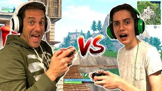 KID VS DAD! *Fortnite Playgrounds 4.0 1v1s with noob!*