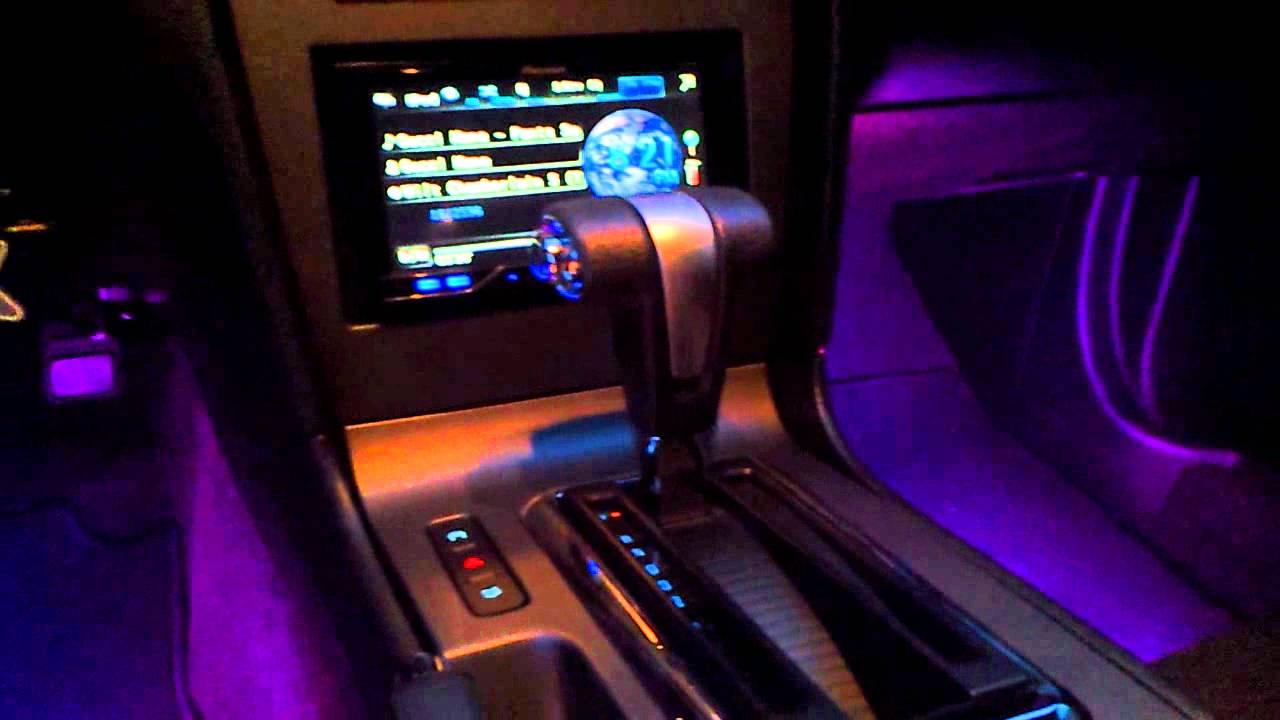 audi style led lights led glow interior lights 2011 mustang youtube. Black Bedroom Furniture Sets. Home Design Ideas
