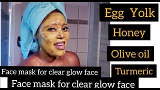 EGG YOLK TURMERIC FACE MASK ( CAN Remove Dark Circles, ACNE, PIGMENTATION, And  Clear dark Spots