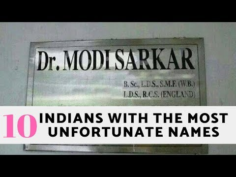 10- Indians with the most Unfortunate names