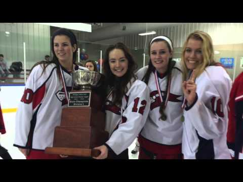 Girl's Ice Hockey Team at the University Liggett School 2014 Division 1 State Championships!