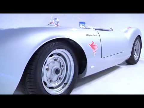Porsche 550 Spyder replica close up