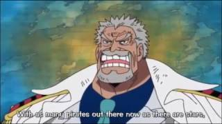 One Piece - Monkey D  Garp Talks About the Yonkou In Water 7 ! ENG SUB