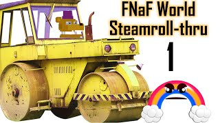 FNaF World Steamroll-thru #1 | Hard Mode, New Update 2 Characters