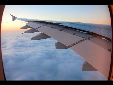 Air France A380 Stunning Sunrise Landing in Paris!
