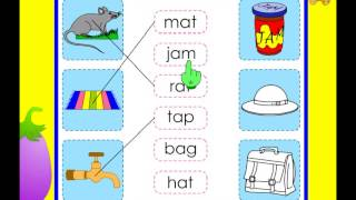 Kindergarten - words with the short vowel sound a -  phonics