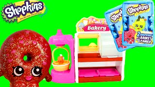 Shopkins Bakery Playset with 2 Special Edition Ultra Rare Shopkins and 2 Surprise Blind Bags Baskets