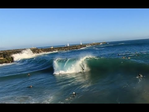 Surfing The Wedge with Jamie O'Brien - Red Bull Wedge Sessions in Newport Beach