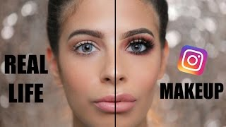 INSTAGRAM MAKEUP VS. EVERYDAY REAL LIFE MAKEUP