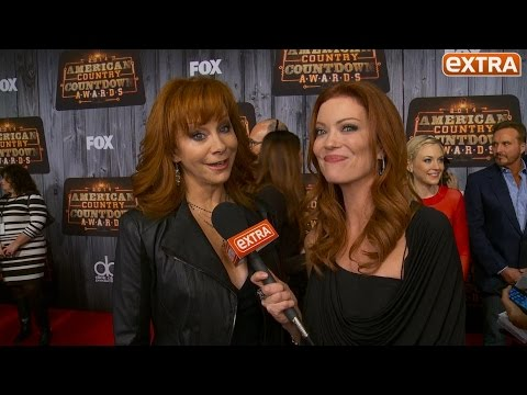 'Extra' with Reba McEntire, Luke Bryan, Jason Aldean, and Brittany Kerr at ACC Awards
