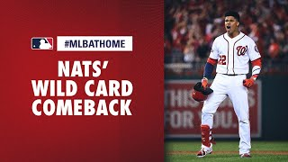 2019 NL Wild Card Game, Brewers vs. Nationals (Nats' awesome comeback) | #MLBAtHome
