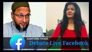 AsadUddin Owaisi Live Debate national news channel seating @ Headquarter Darussalam Hyderabad