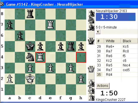 Chessworld.net : Blitz #242 vs. NeuralHijacker (2163) - Four knights: Schultze-Müller gambit (C47)