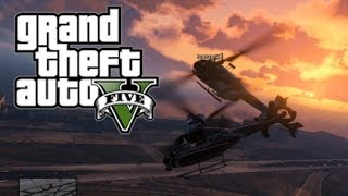 GTA 5 Online - Airport Fun! (Helicopter Demo, RPG Game)