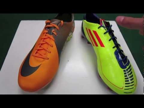 Adidas F50 adizero VS Nike Mercurial Vapor VII - Comparison