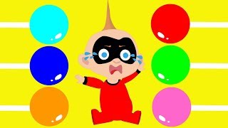 INCREDIBLES 2 Jack Jack  Babies  Balloons & Candy For Kids Compilation