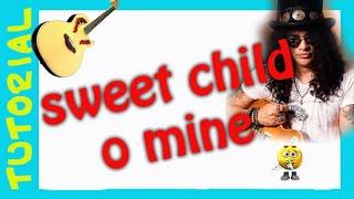 Como tocar SWEET CHILD o Mine en Guitarra acustica