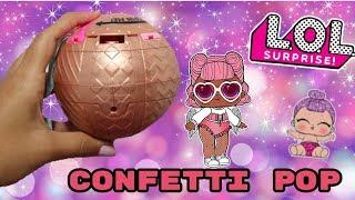 ABRIENDO  CONFETTI POP. OLA 1 Y  2!!!! BOLA DORADA!!!
