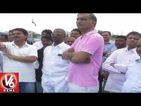 Minister Harish Rao Inspects Siddipet Komati Pond Development Works | V6 News