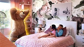 DADDY PRANKS KIDS WITH HUGE TEDDY BEAR!!! **THEODORE IS BACK**