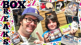 KID BREAKS!! Young Collector Opens Boxes Of Baseball Cards!