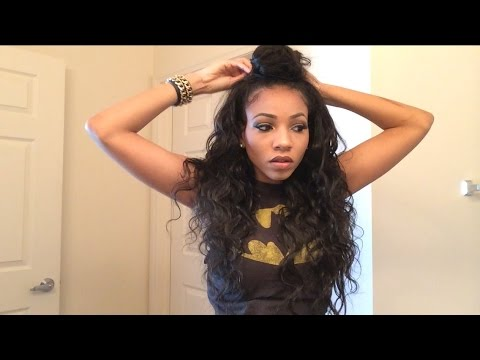 Half Bun Half Down Natural Hair Half up Half Down Bun Tutorial