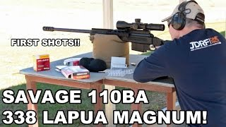 Savage 110BA 338 Lapua Magnum! First Shots
