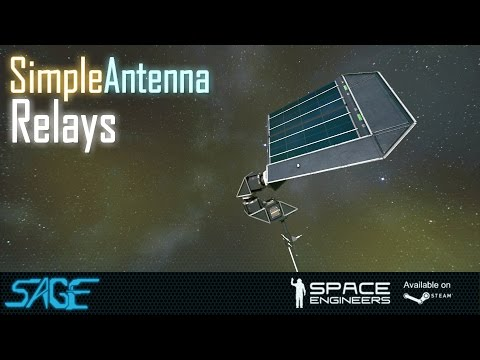 Space Engineers, Basic Antenna Relays (preparing For Exploration Mode) video