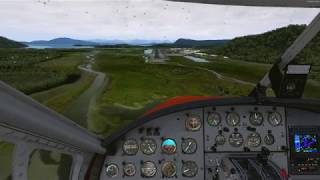 DHC-3T Turbo Otter (Milviz) True Glass test, light rain