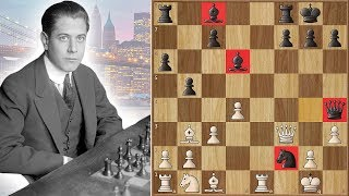 Marshall Saved His Famous Weapon For 8 Years Before Using It Against Capablanca