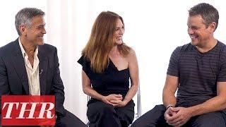George Clooney, Julianne Moore, & Matt Damon Talk 'Suburbicon,' All About Poor Choices & Blame | THR