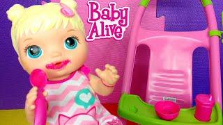 BABY ALIVE - ROTINA DA MANHÃ DA MINHA BONECA DORINHA! Peter Toys